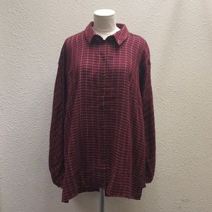 Topshop high low Button Down tunic size 10